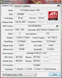 AMD 690V GPUZ